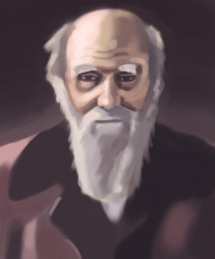 Charles Darwin speedpainting